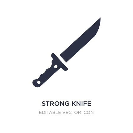 strong knife icon on white background. Simple element illustration from General concept. strong knife icon symbol design.