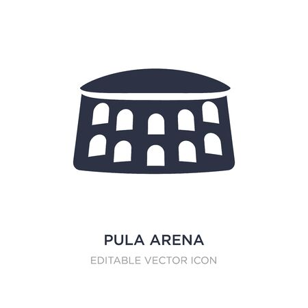 pula arena icon on white background. Simple element illustration from Monuments concept. pula arena icon symbol design. 向量圖像