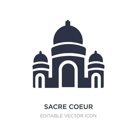sacre coeur icon on white background. Simple element illustration from Monuments concept. sacre coeur icon symbol design.