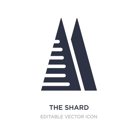 the shard icon on white background. Simple element illustration from Monuments concept. the shard icon symbol design.