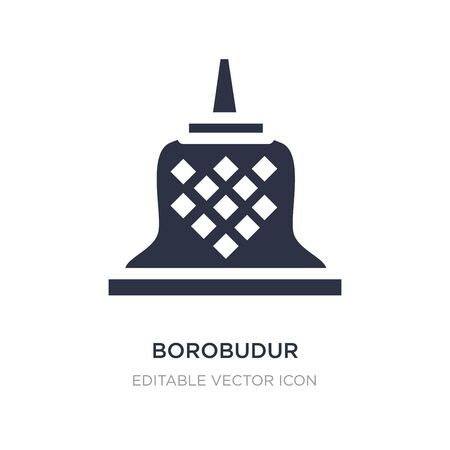borobudur icon on white background. Simple element illustration from Monuments concept. borobudur icon symbol design.