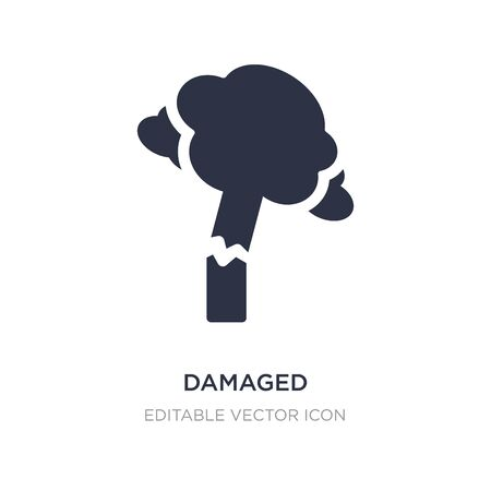 damaged icon on white background. Simple element illustration from Nature concept. damaged icon symbol design. Ilustrace