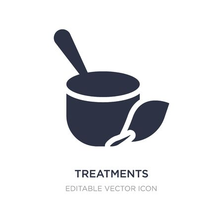 treatments icon on white background. Simple element illustration from Nature concept. treatments icon symbol design.