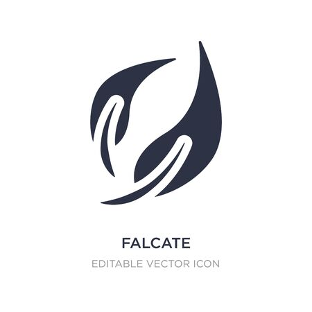 falcate icon on white background. Simple element illustration from Nature concept. falcate icon symbol design.