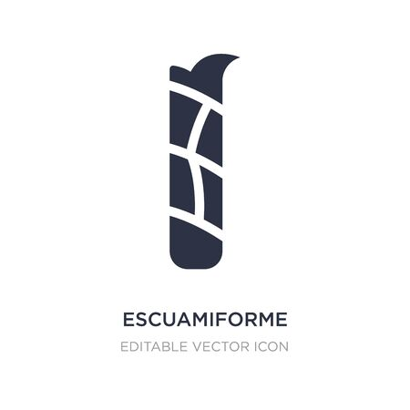 escuamiforme icon on white background. Simple element illustration from Nature concept. escuamiforme icon symbol design. Ilustracja