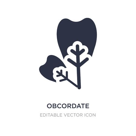 obcordate icon on white background. Simple element illustration from Nature concept. obcordate icon symbol design.