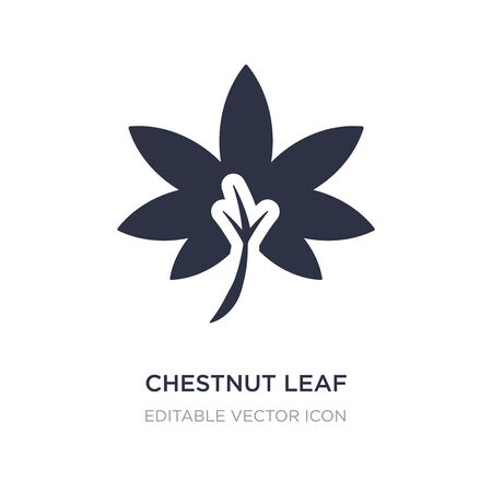 chestnut leaf icon on white background. Simple element illustration from Nature concept. chestnut leaf icon symbol design.