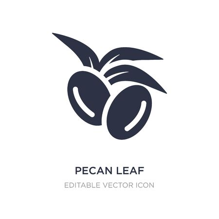 pecan leaf icon on white background. Simple element illustration from Nature concept. pecan leaf icon symbol design.