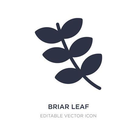 briar leaf icon on white background. Simple element illustration from Nature concept. briar leaf icon symbol design.