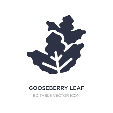 gooseberry leaf icon on white background. Simple element illustration from Nature concept. gooseberry leaf icon symbol design.