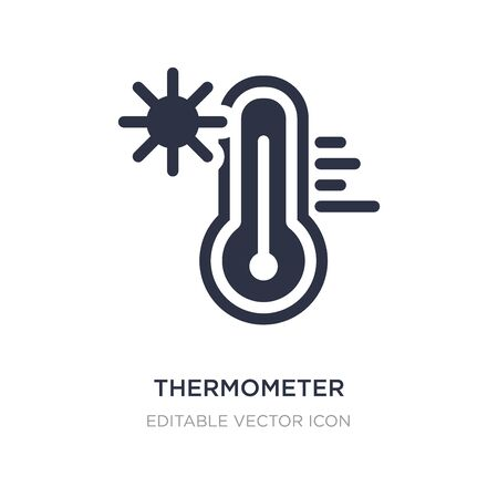 thermometer high temperature icon on white background. Simple element illustration from Nature concept. thermometer high temperature icon symbol design.  イラスト・ベクター素材