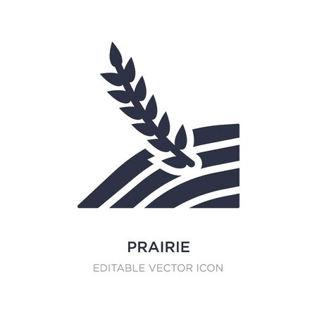 prairie icon on white background. Simple element illustration from Nature concept. prairie icon symbol design.