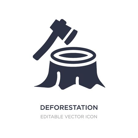 deforestation icon on white background. Simple element illustration from Nature concept. deforestation icon symbol design.