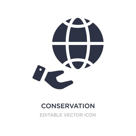 conservation icon on white background. Simple element illustration from Nature concept. conservation icon symbol design. 스톡 콘텐츠 - 135423757