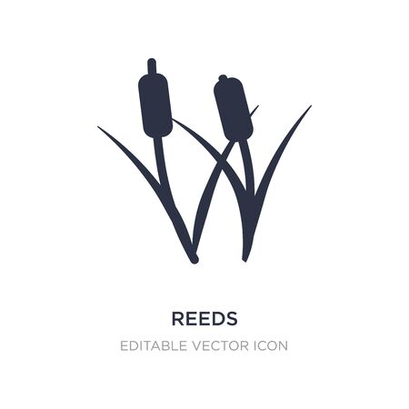 reeds icon on white background. Simple element illustration from Nature concept. reeds icon symbol design.