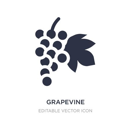 grapevine icon on white background. Simple element illustration from Nature concept. grapevine icon symbol design. Ilustração