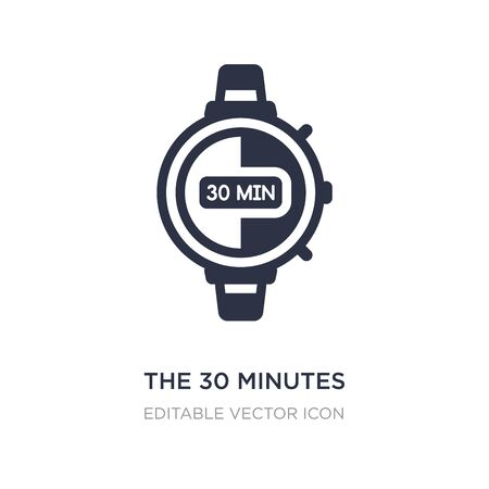 the 30 minutes icon on white background. Simple element illustration from Other concept. the 30 minutes icon symbol design.  イラスト・ベクター素材