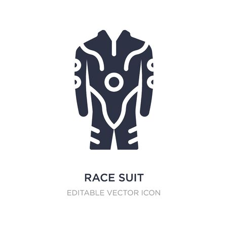 race suit icon on white background. Simple element illustration from Security concept. race suit icon symbol design. Illustration