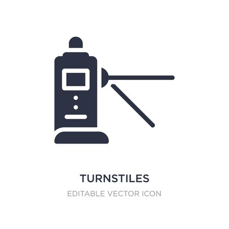 turnstiles icon on white background. Simple element illustration from Security concept. turnstiles icon symbol design. Ilustração