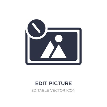 edit picture icon on white background. Simple element illustration from Tools and utensils concept. edit picture icon symbol design. Stockfoto - 135650983