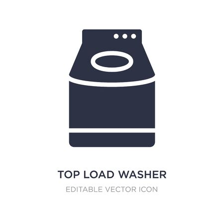 top load washer icon on white background. Simple element illustration from Tools and utensils concept. top load washer icon symbol design.