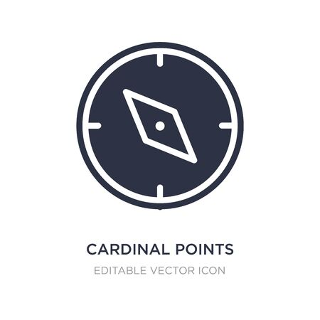 cardinal points icon on white background. Simple element illustration from Tools and utensils concept. cardinal points icon symbol design.