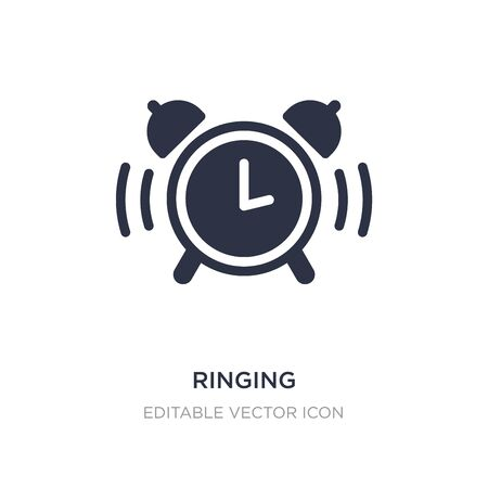 ringing icon on white background. Simple element illustration from Tools and utensils concept. ringing icon symbol design.
