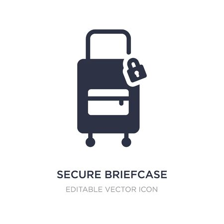secure briefcase icon on white background. Simple element illustration from Travel concept. secure briefcase icon symbol design.