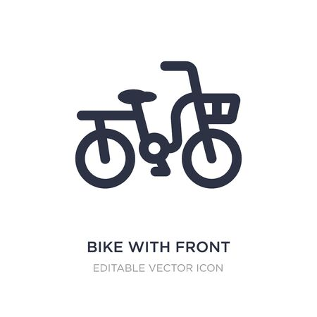 bike with front basket icon on white background. Simple element illustration from Travel concept. bike with front basket icon symbol design.