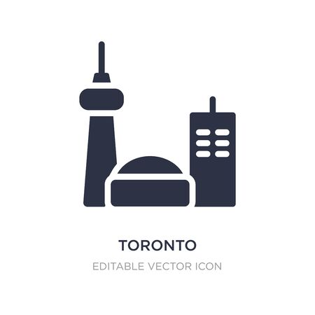 toronto icon on white background. Simple element illustration from Travel concept. toronto icon symbol design. 일러스트
