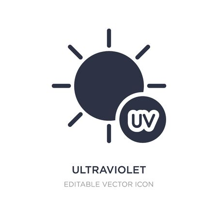 ultraviolet icon on white background. Simple element illustration from Weather concept. ultraviolet icon symbol design.