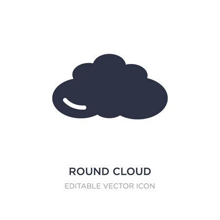 round cloud icon on white background. Simple element illustration from Weather concept. round cloud icon symbol design.