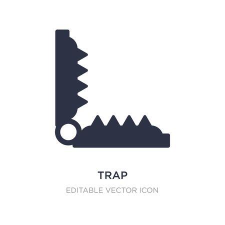 Trap-Symbol auf weißem Hintergrund. Einfache Elementillustration aus dem Tierkonzept. Trap-Symbol-Symbol-Design.