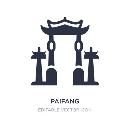 paifang icon on white background. Simple element illustration from Architecture and city concept. paifang icon symbol design.