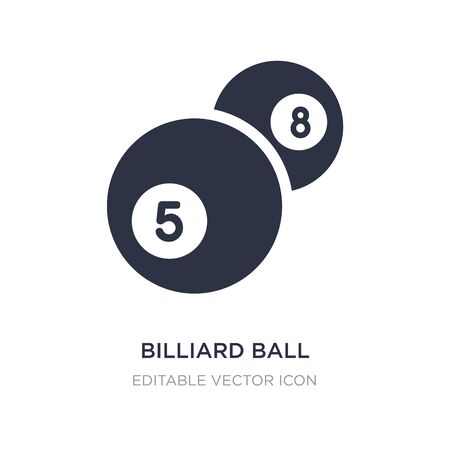 billiard ball icon on white background. Simple element illustration from Gaming concept. billiard ball icon symbol design.