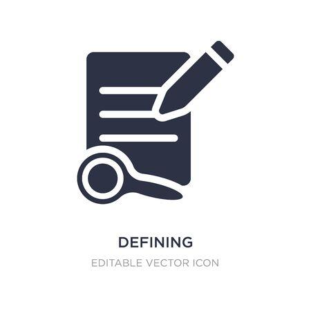 icône de définition sur fond blanc. Illustration d'élément simple du concept d'outils d'édition. définir la conception de symbole d'icône.
