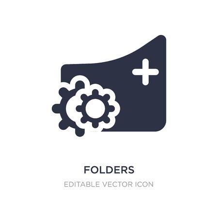 folders icon on white background. Simple element illustration from Edit tools concept. folders icon symbol design. Illustration