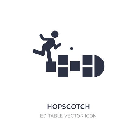 hopscotch icon on white background. Simple element illustration from Entertainment concept. hopscotch icon symbol design. Illustration