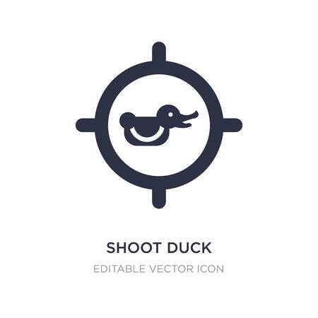 shoot duck icon on white background. Simple element illustration from Entertainment concept. shoot duck icon symbol design. Vettoriali