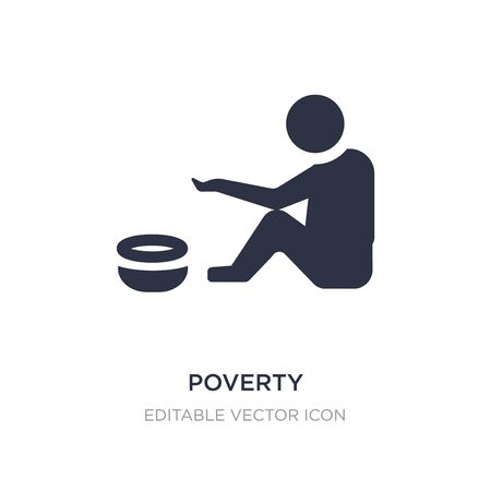poverty icon on white background. Simple element illustration from General concept. poverty icon symbol design. Vectores