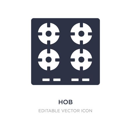 hob icon on white background. Simple element illustration from General concept. hob icon symbol design. Vettoriali