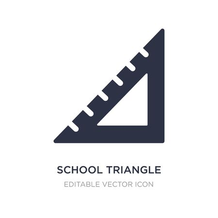 school triangle icon on white background. Simple element illustration from Edit tools concept. school triangle icon symbol design. Ilustracja