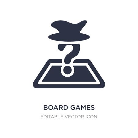 board games with roles icon on white background. Simple element illustration from Entertainment concept. board games with roles icon symbol design. Illustration