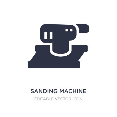 sanding machine icon on white background. Simple element illustration from Construction and tools concept. sanding machine icon symbol design.
