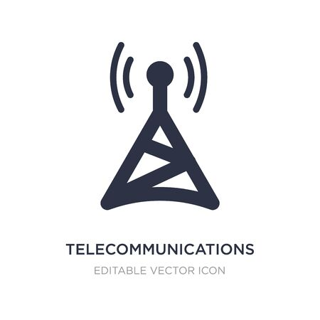 telecommunications icon on white background. Simple element illustration from Computer concept. telecommunications icon symbol design.
