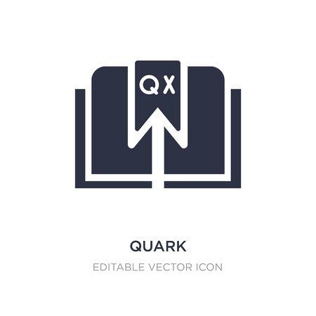quark icon on white background. Simple element illustration from Edit tools concept. quark icon symbol design.