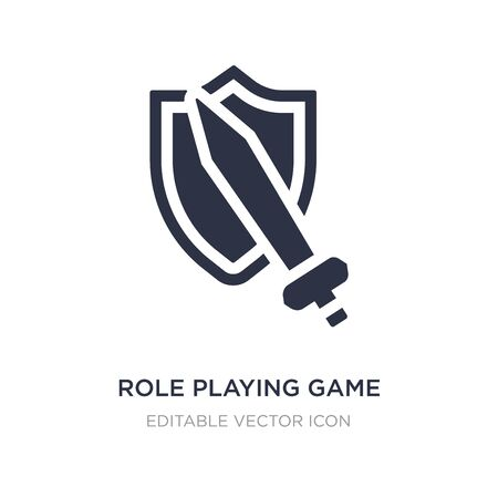 role playing game icon on white background. Simple element illustration from Gaming concept. role playing game icon symbol design. Illustration