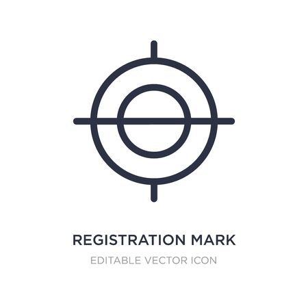 registration mark icon on white background. Simple element illustration from Edit tools concept. registration mark icon symbol design.