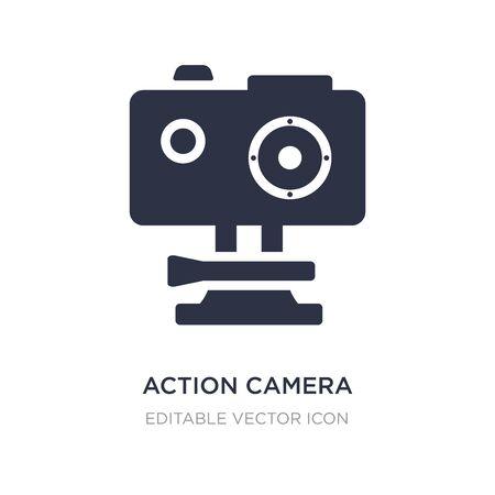 action camera icon on white background. Simple element illustration from Computer concept. action camera icon symbol design. Ilustração