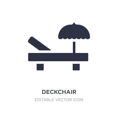 deckchair icon on white background. Simple element illustration from General concept. deckchair icon symbol design.